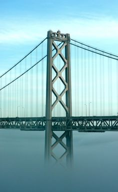 San Francisco Bay Bridge in Fog