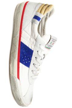 S1932 white/blue - Serafini sneakers