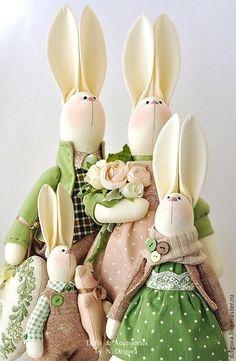 Игрушки животные, ручной работы. Ярмарка Мастеров - ручная работа Семейка кроликов для Яны. Handmade.