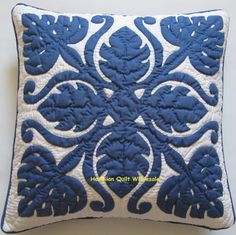 Hawaiian Breadfruit Quilted Pillow Cover 18x18