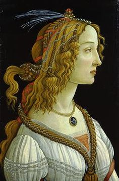 Portraits of  Women of Italian Renaissance. Sandro Boticelli. Portrait of a Young Woman, c.1480
