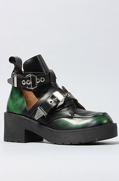 8396b56864e Jeffrey Campbell The Coltrane Boot in Green Ruboff   MissKL.com - Cutting  Edge Women s