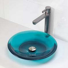 DECOLAV's Incandescence 2804-LAG Round Above-Counter Resin Lavatory features a distinct shape and color which will make your eyes pop. These resin lavatories will add a splash of vibrant color to your design.