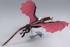 Game of Thrones : Drogon - HelloBricks Game Of Thrones, Lego Dino, Lego Batman, Nemesis Prime, Lego Dragon, Step On A Lego, Daenerys Targaryen, Amazing Lego Creations, Unicorn Pictures