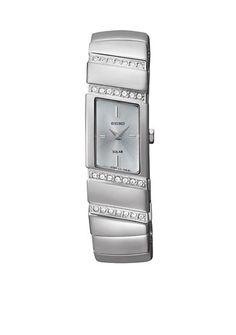 Seiko Women's 30 Meter Stainless Steel Solar Modern Jewelry Watch