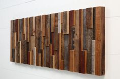 Reclaimed wood wall art 48x18x2 made of old barn by CarpenterCraig