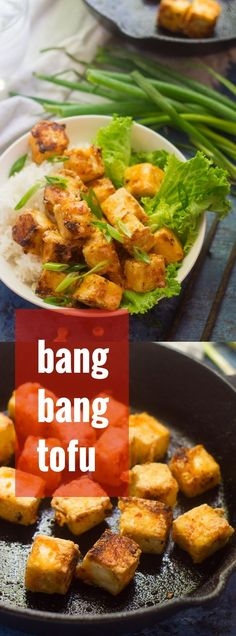 This mouth-watering bang bang tofu is crispy on the outside, sweet, spicy and succulent on the inside. Serve these little bites on their own, over rice, or stuffed into tacos for a scrumptious vegan dinner.