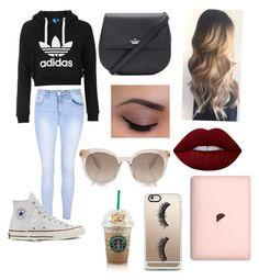 """""""FASHION"""" by annaglew on Polyvore featuring adidas Originals, Glamorous, Converse, Kate Spade, Lime Crime and Casetify"""