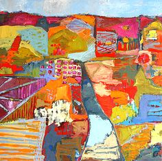Landscapes---Jylian Gustlin She has all kinds of work....that is of a similar style.