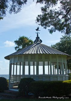 This gazebo could be screened very easily for a porch.