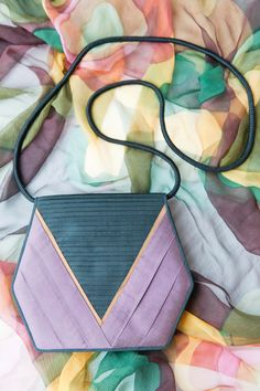 Items similar to VINTAGE Jim Thompson Black Purse Pleated Silk Hexagon  Cross Body Clutch Bag on Etsy 91d4b36f28