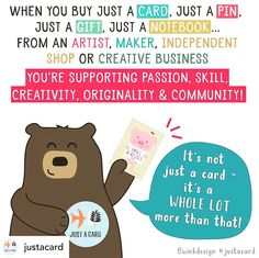 Posted @withrepost • @justacard TODAY'S challenge is to spread the JUST A CARD campaign message FAR & WIDE. Imagine you're telling someone who has never heard of the campaign! You are asked to make an image to share the campaign message (that EVERY sale even 'just a Card' is vital and appreciated) and say what it means to you! The world needs to know how and why it is SO important to support artists, makers, independent shops and small businesses. Let's work together to tell them! MAKE SURE our  Creative Business, Small Businesses, Need To Know, Appreciation, Campaign, Shops, Challenges, Messages, Artists