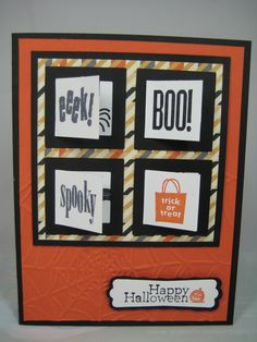 peek-a-boo frame -front Halloween 1, Halloween Cards, Holidays Halloween, Fall Cards, Holiday Cards, My Sister Birthday, Thanksgiving Cards, Stampin Up Cards, Cardmaking