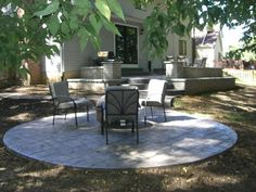 round patios - google search | landscape and outdoor | pinterest ... - Raised Concrete Patio Ideas