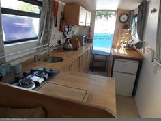 Narrowboat For Sale, 1981 Canal Boat Interior, Barge Interior, Narrowboat Interiors, Houseboat Living, Narrow Boat, Floating House, Houseboats, My Dream Home, Construction