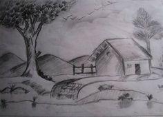 Nature Photos Pencil Shading Easy Nature Pencil Shading – Drawing Of . Shading Drawing, Pencil Sketch Drawing, Pencil Shading, Pencil Art Drawings, Art Drawings Sketches, Easy Drawings, Drawing Art, Drawing Skills, Drawing Ideas