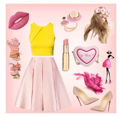 """""""#loveChristinaGrimmie"""" by juromi ❤ liked on Polyvore featuring Emilia Wickstead, Oneness, ASOS, Eshvi, Christian Louboutin, Betsey Johnson and Lime Crime"""