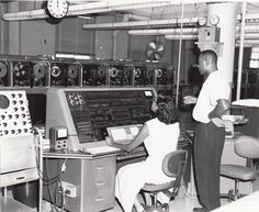 U.S. Census Bureau employees tabulate data using  one of the agency's UNIVAC computers, ca. 1960. Learn more at http://www.census.gov/history/