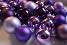 Purple Christmas and silver Purple Love, Purple Lilac, All Things Purple, Purple Rain, Shades Of Purple, Purple Stuff, Purple Christmas Decorations, Purple Christmas Ornaments, Christmas Colors