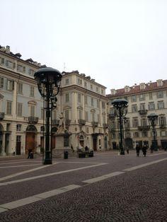 """Piazza Carignano , ristorante """"Del Cambio"""" Torino, Piemonte"""