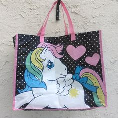 BEING DONATED IF NOT SOLD BY TOMORROW 😧 A thin 80 s My Little Pony tote bag 950f557df9eda