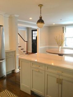 Erin Gates Pinterest   Erin Gates' Kitchen Renovation   Kitchen like the color of the kitchen cabinets - super glam knobs