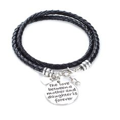 The Love Between a Mother and Daughter is Forever - Hand Stamped Bracelet  I need to get this one for Shy and I