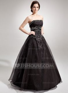 [Kr 1439] Ball-Gown Strapless Floor-Length Organza Quinceanera Dress With Ruffle Beading (008005680)