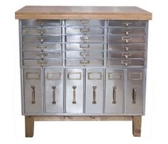 #vintage, #metal cabinet, #machine age. I'm in LOVE with this cabinet for so many reasons!