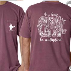 Berry Comfort Colors Elephant Shirt Perfect Fall Fashion Gift AND Helps Provide Orphan Care in India!