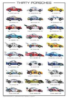 30 Porsches race car poster. I had this poster hanging in my bedroom as a kid.