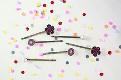 Every hairdo is more fun with the matching hair accessories! No matter, if you would like to tame outgrowing bangs with bobby pins or crown an up-do with a lovely flower. Our new hair accessories have summery motives as well as endless possibilities. Let's decorate that mane!  #iam #jewelry #fashion #accessoires  #purlplered #hairaccessories www.i-am.com