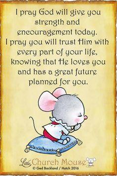 I pray.....
