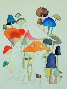Mushroom Jungle by Geninne