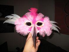 Cute Flamingo Mask for Olivia's Halloween costume