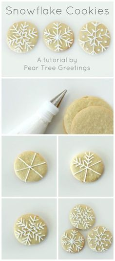 How To Make Snowflake Christmas Cookies - 17 Skillfully Decorated Christmas Cookies Which Will Spread Cheer Among Your Family christmas desserts creative Snowflake Christmas Cookies, Christmas Sweets, Christmas Cooking, Christmas Goodies, Holiday Cookies, Christmas Desserts, Holiday Treats, Christmas Holidays, Family Christmas