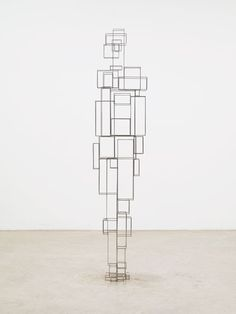 Antony Gormley - CONSTRUCT VI, 2011 3 mm square stainless steel 193 x 42 x 34 cm Photograph by Stephen White, London Photographie Art Corps, Antony Gormley Sculptures, 3d Figures, Iron Art, Painting People, Art Studies, Typography Poster, Wood Sculpture, Figurative Art