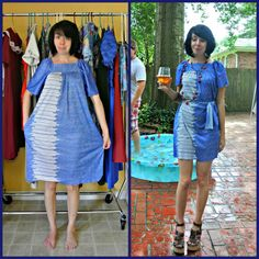 Thrift store finds, upcycled clothing thrift store, thrift store outfits, d Thrift Store Outfits, Upcycled Clothing Thrift Store, Thrift Store Fashion, Diy Clothing, Sewing Clothes, Thrift Shop Outfit, Refashioning Clothes, Textiles Y Moda, Second Hand Mode