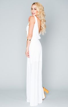 for wedding function- possibly rehearsal dinner <3 Kendall Maxi Dress - White Crisp | Show Me Your MuMu