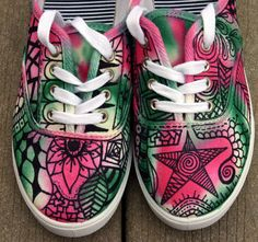 Zentangle sneakers shoes sneakers zentangle by ArtworksEclectic, $35.95. Id totally wear these