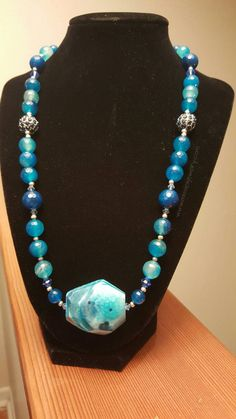 Check out this item in my Etsy shop https://www.etsy.com/listing/230679293/large-blue-gemstone-pendant-necklace