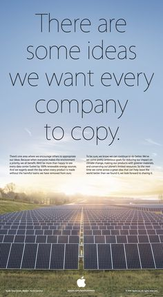 Apple: There are some ideas that we want every company to copy. (Earth Day)