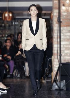 Lee Soo Hyuk, The  Same Jacket I am going to buy, but a females version, But he looks good in it!