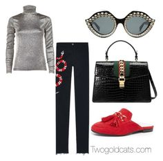 """""""7273918478"""" by paulivillalobos on Polyvore featuring Jeffrey Campbell, Gucci and Dries Van Noten"""