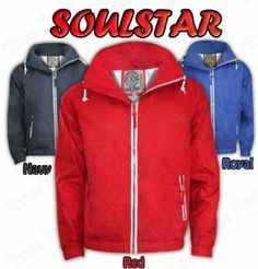 ba0deea8599 New Mens Soul Star Jacket Americano.Navy.S