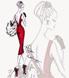 Hayden Williams Fashion Illustrations: 'Ravishing Rouge' by Hayden Williams