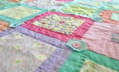 Baby Girl Crib Quilt by babyburritoquilts on Etsy https://www.etsy.com/listing/76095420/baby-girl-crib-quilt