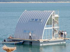 Floating House OR REALLY , REALLY FANCY BACK YARD SHED !!