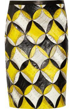 derek lam. ss2012. watersnake skirt.