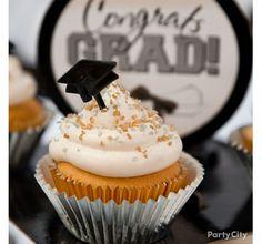 Black, Silver and Gold Graduation Sweets Table Idea - Classy Grad Treat Table Ideas - Graduation Party Ideas - Special Occasion Ideas - Party Ideas - Party City | Party City